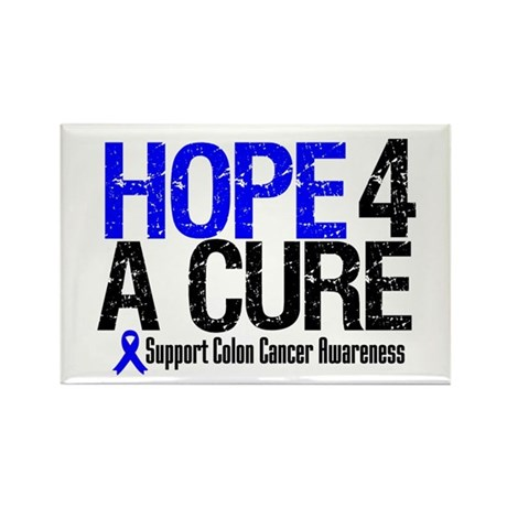 Colon Cancer Hope 4 a Cure Rectangle Magnet