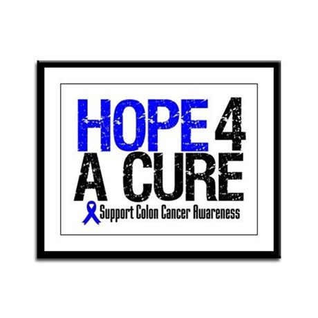 Colon Cancer Hope 4 a Cure Framed Panel Print