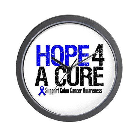 Colon Cancer Hope 4 a Cure Wall Clock
