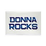 donna rocks Rectangle Magnet
