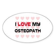 I Love My Osteopath Oval Decal