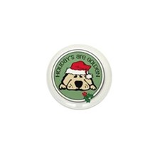 Holidays are Golden Mini Button (100 pack)