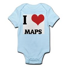 I Love Maps Infant Creeper