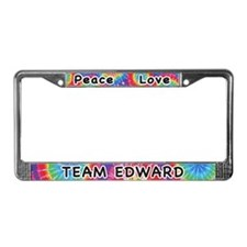 Peace Love Team Edward License Plate Frame