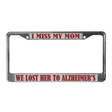 Alzheimer's Mom License Plate Frame