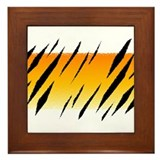 Tiger Stripes Framed Tile