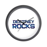 destiney rocks Wall Clock