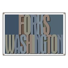Forks Washington Twilight Banner