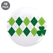 "Clover Argyle 3.5"" Button (10 pack)"