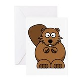 Beaver Greeting Cards (20 Pack)
