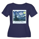 Pi in the Sky Women's Plus Size Scoop Neck Dark T-