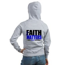 Colon Cancer Faith Matters Zip Hoodie