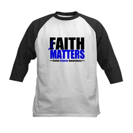 Colon Cancer Faith Matters Kids Baseball Jersey