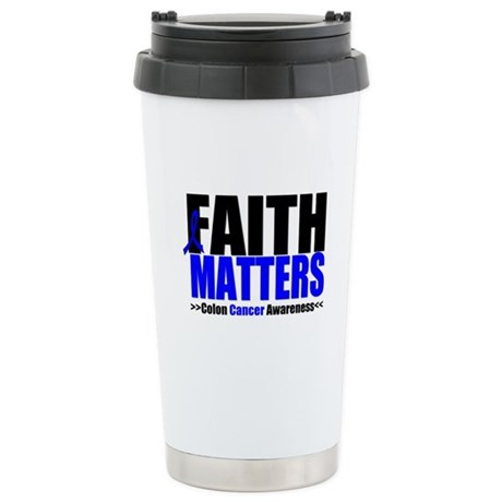Colon Cancer Faith Matters Ceramic Travel Mug