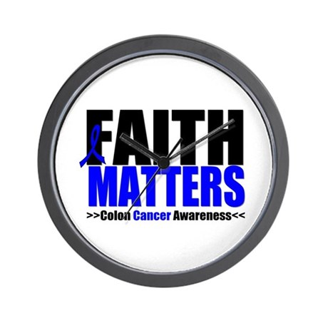 Colon Cancer Faith Matters Wall Clock