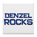 denzel rocks Tile Coaster