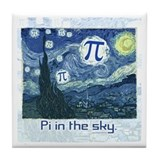 Pi in the Sky Tile Coaster