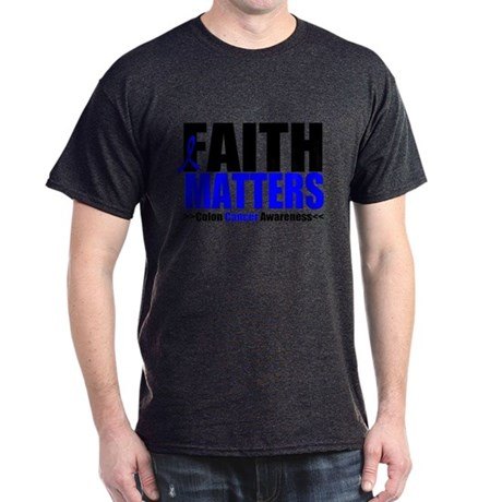 Colon Cancer Faith Matters Dark T-Shirt