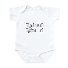 """""""My Son Battles Migraines"""" Infant Bodysuit"""