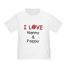 I Love Nanny and Poppy T