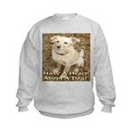 Have A Heart! Adopt A Dog! Kids Sweatshirt