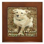 Have A Heart! Adopt A Dog! Framed Tile