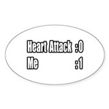 """Heart Attack Survivor"" Oval Sticker (10 pk)"