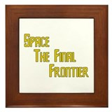 Space The Final Frontier Framed Tile