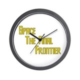 Space The Final Frontier Wall Clock