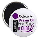 "BELIEVE DREAM HOPE Alzheimers 2.25"" Magnet (10 pac"