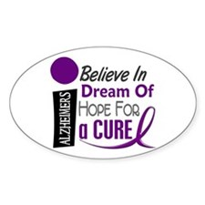 BELIEVE DREAM HOPE Alzheimers Oval Sticker (50 pk)