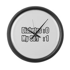 """My Son's Beating Diabetes"" Large Wall Clock"