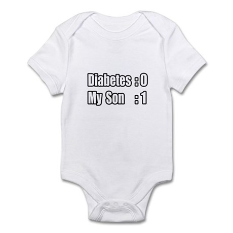 """My Son's Beating Diabetes"" Infant Bodysuit"