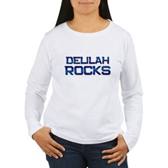 delilah rocks Women's Long Sleeve T-Shirt