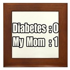 """Mom is Beating Diabetes"" Framed Tile"