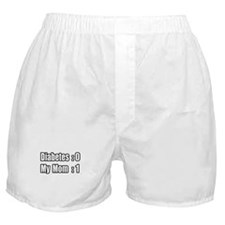 """Mom is Beating Diabetes"" Boxer Shorts"