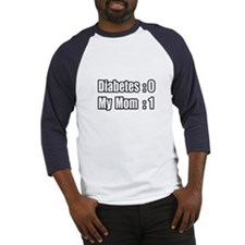 """Mom is Beating Diabetes"" Baseball Jersey"