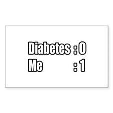 """I'm Beating Diabetes"" Rectangle Sticker 50 pk)"