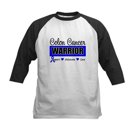 Colon Cancer Warrior Kids Baseball Jersey