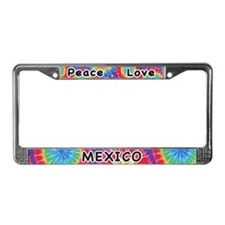 Peace Love Mexico License Plate Frame