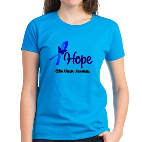 Hope Colon Cancer Women's Dark T-Shirt