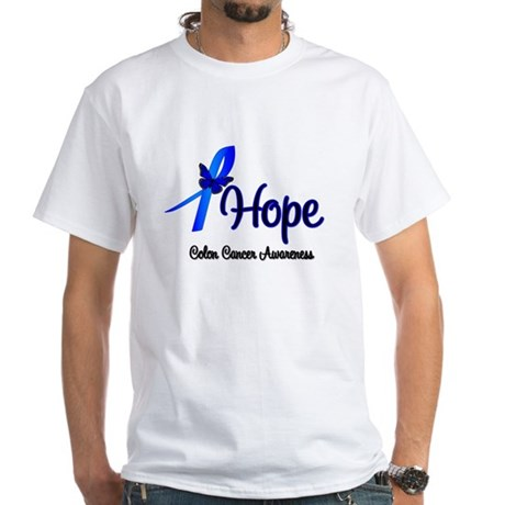 Hope Colon Cancer White T-Shirt