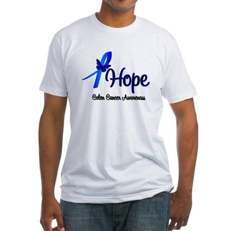Hope Colon Cancer Fitted T-Shirt
