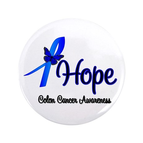 "Hope Colon Cancer 3.5"" Button"