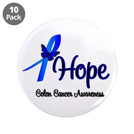 "Hope Colon Cancer 3.5"" Button (10 pack)"