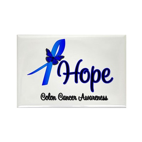 Hope Colon Cancer Rectangle Magnet