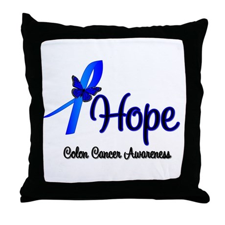 Hope Colon Cancer Throw Pillow