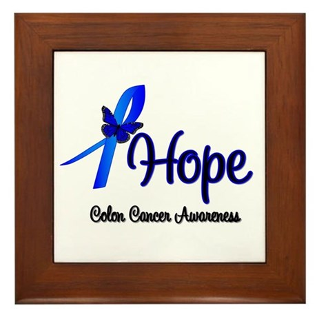 Hope Colon Cancer Framed Tile