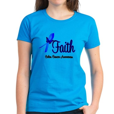 Colon Cancer Faith Women's Dark T-Shirt