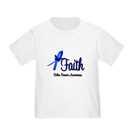 Colon Cancer Faith Toddler T-Shirt